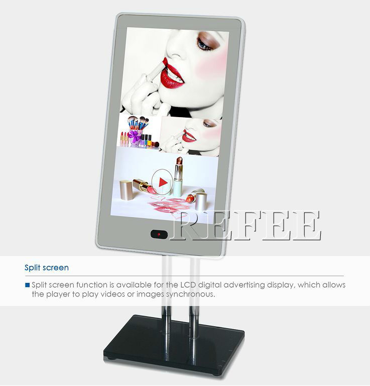advertising board/2014 wholesale digital signage train advertising display with magic mirror
