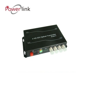 4 Channel Unidirectional HD-SDI 3G-SDI/HDMI/VGI over fiber optic video converter transmitter and receiver set