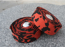 Colorful Cycling Handle Belt Bike Bicycle Cork Handlebar Tape Wrap +2 Bar