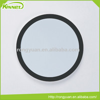 New round MDF frame black PU wrapped dry erase board