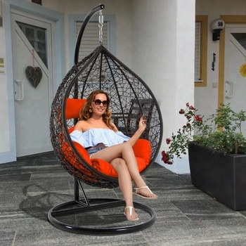 Indoor Rattan Hanging Swing Egg Chair For Living Room ...
