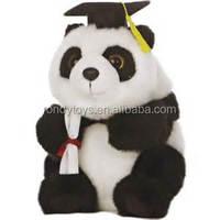 Stuffed Graduation Gift Plush Toys Panda Teddy Bear