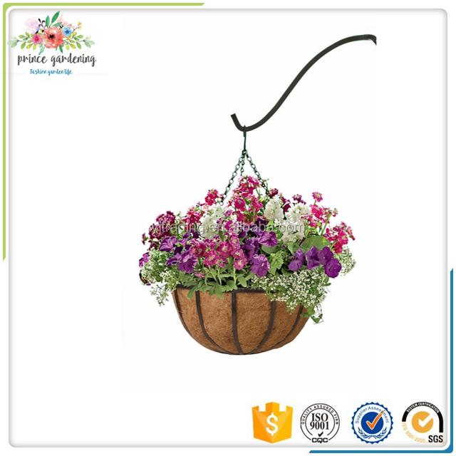 Metal Garden Hanging Flower Basket With Coco Loners Decorative Indoor  Flower Hanging Basket