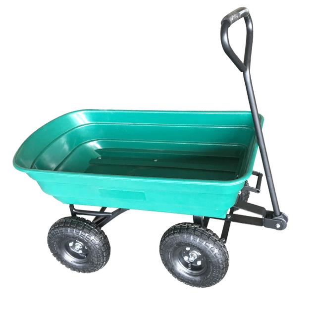 Folding Garden Cart Wagon/Dump Garden Trolley/Plastic Garden Tools  Wheelbarrow TC2145