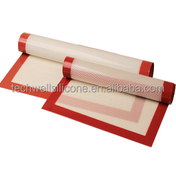 Novel non stick food grade siliconen glasvezel bakken mat