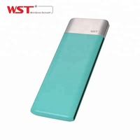 Factory promotion Li-polymer WST DP662 fashion super phone slim 6000mAh power bank gift