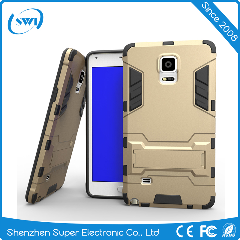 Armor Shock Defender with Kick-Stand Case for Samsung Note 4,Soft TPU Mobile Phones Case for Samsung Galaxy Note 4