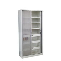 Design Multi-functional Laboratory Steel Door Filling Modern Simple Storage Glass High Quality Cabinet
