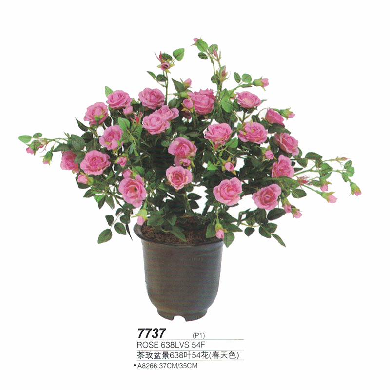 Guangzhou factory supply artificial tea rose bonsai plants