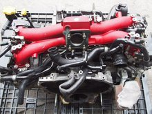 USED JDM 02-03 Impreza WRX Rev7 GDB GDA Sti Turbo EJ20 4WD RED Engine Motor