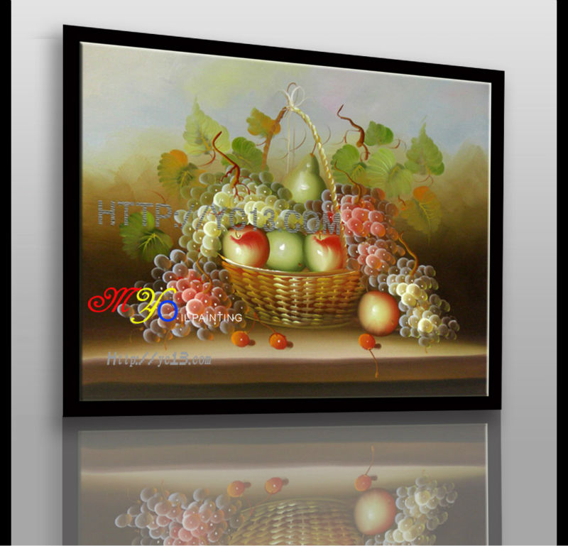 new artwork impressionist handmade fruit oil painting on canvas home decor