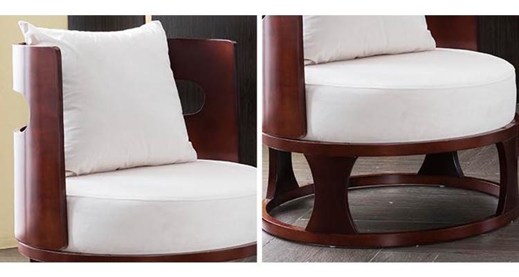 लकड़ी के आधार आधा दौर अवकाश स्वागत कुर्सी, नरम तकिया आराम आगंतुक मल कुर्सी
