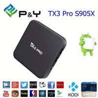 P&Y Google play store app free download Android 6.0 TX5 Pro S905X 2G 16G Android smart TV box