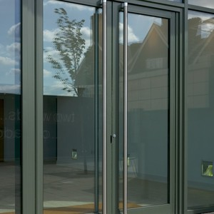 Modern aluminum glass flush side and swing hinged door by manufacturer making