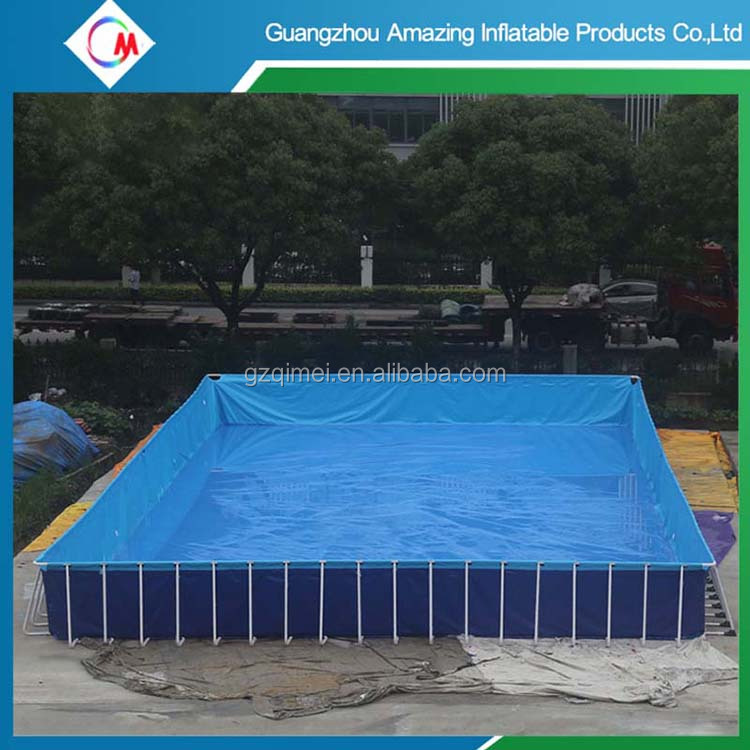 Custom Above ground Metal Steel Frame Swimming Pools for adult and kids,Portable PVC tarpauline Pool