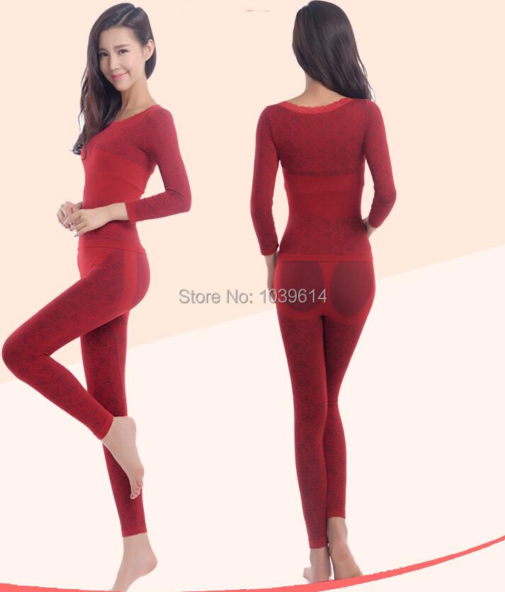 2014 новых похудения термокружка тепловой бархат белье жилет нижнее белье женщин 3D термобелье комплект сексуальные цветы рукопечатных