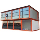 portable shipping prefab container modular unit construction site office steel frame 20ft house for russia malta