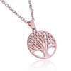 Stainless Steel Rose Gold Plated Tree Of Life Necklace Canada UK