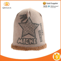 Five-pointed Star Warm Winter Knit Hat Cap Christmas Gift