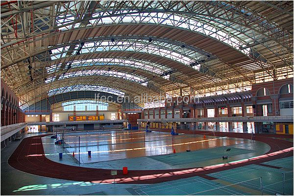 Customized Light Steel Space Frame Prefabricated Gym Building