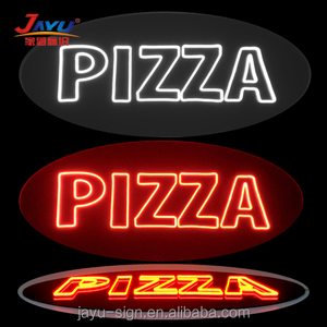 2017 hot selling store 3d custom Pizza neon sign