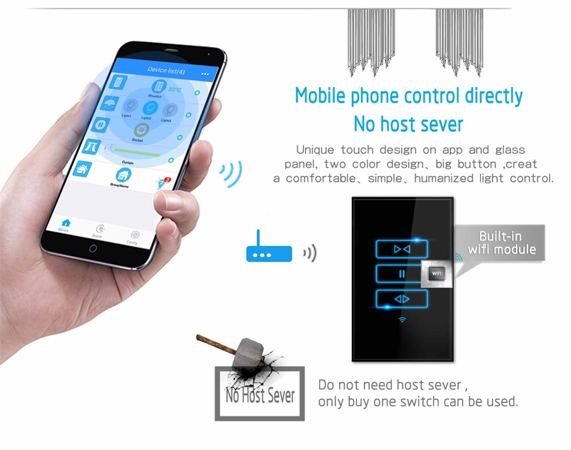 Best quality Lanbon smart home curtain switch wifi shutter switch compatible with Amazon echo
