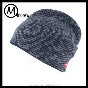 Morewin Brand custom fashion pure color beanie hats winter warm men hats