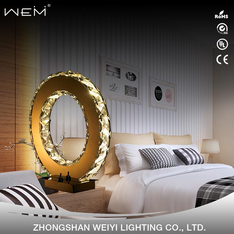 Modern Lüks kristal masa lambası dekorasyon otel masası aydınlatma 12W doğa beyaz LED Kristal masa lambası