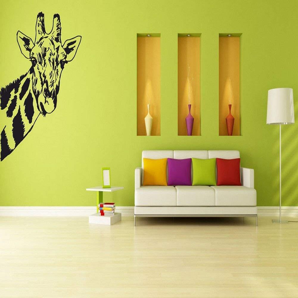 Wall Vinyl Sticker Room Decals Mural Design Giraffe Africa Jungle Animal