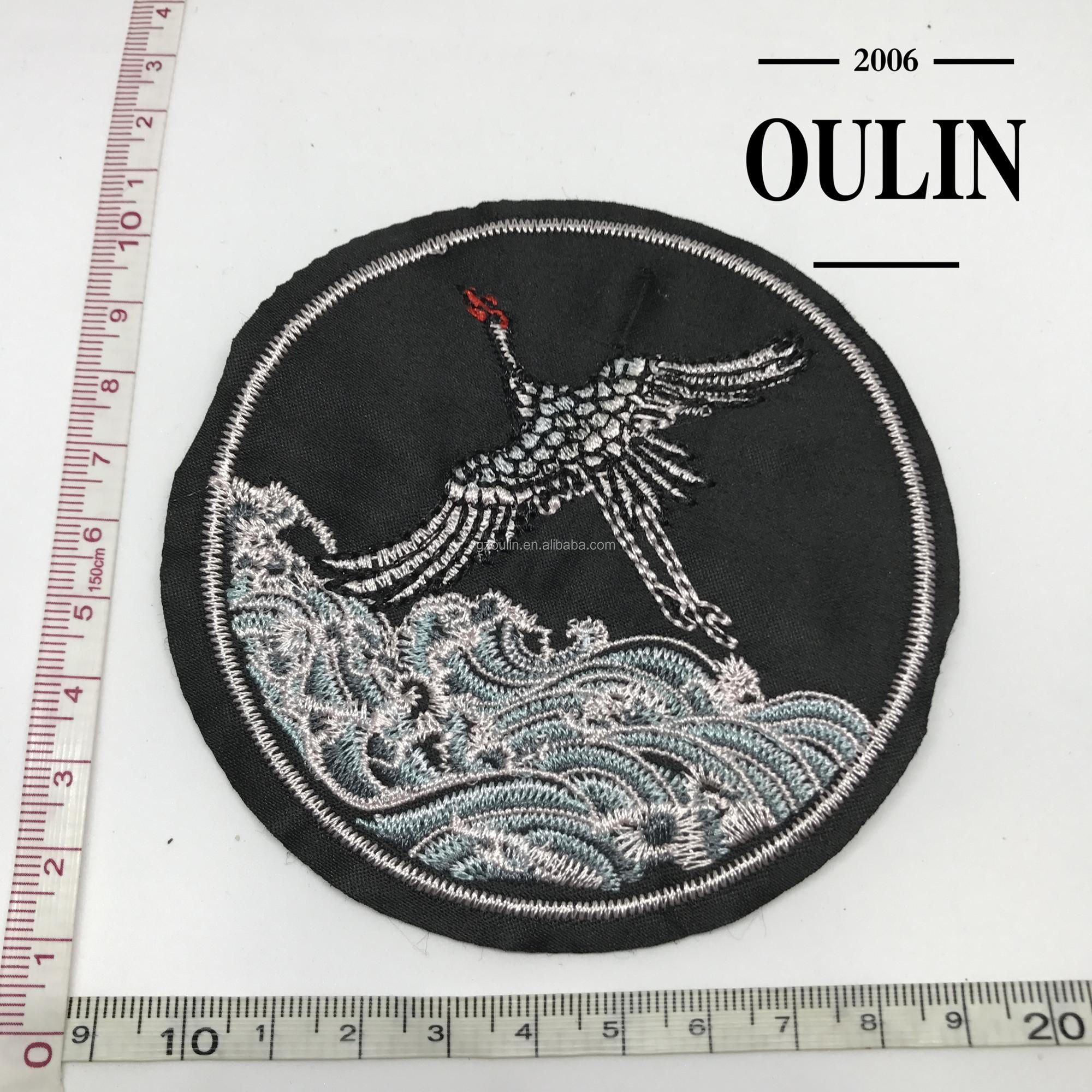 Bird embroidery patches with iron on back hot fix design decoration type patches