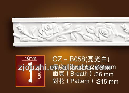 Fireproof Matrials Polyurethane Foam Cornice Moulding For Ceiling ...