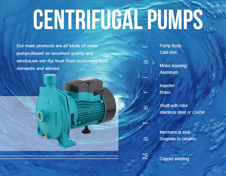 Centrifugal 3hp commercial electric water pump for house