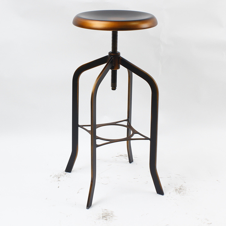 bronze antique en mtal industrielle tabourets de bar italien march tabourets bar chine usine - Tabouret De Bar Metal Industriel