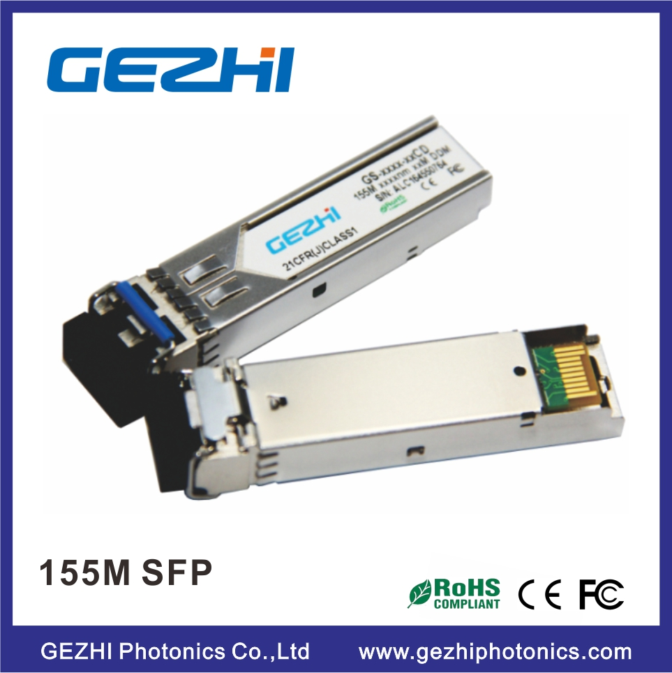 Optical fiber SFP Transceiver Mini GBIC 155Mbps