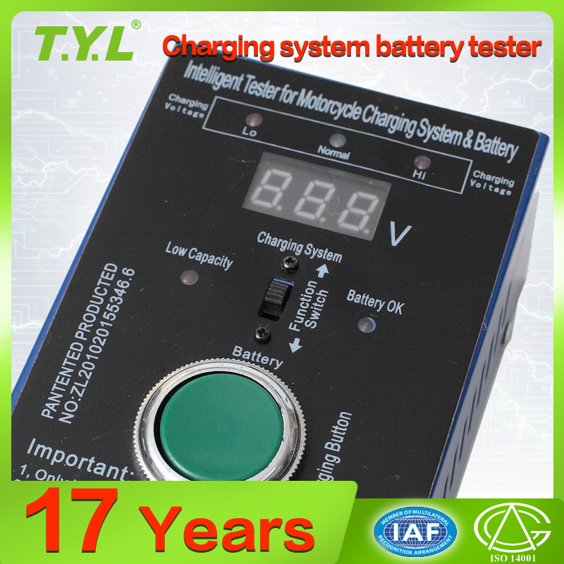 inteligent Tester for motorcycle charging system and battery
