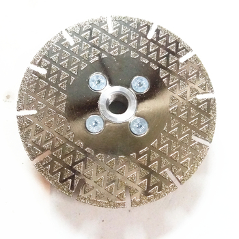 Order directly 4.5inch 115mm M14 flange segment electroplated diamond grinding disc saw blade for marble  cutting