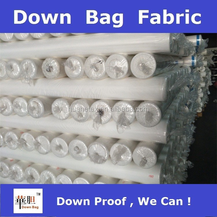 test pass down proof bag fabric for down jacket and duvet
