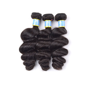 Free Sample 100 human brand name hair weave,model model hair extension wholesale,good quality salt and pepper hair for braiding