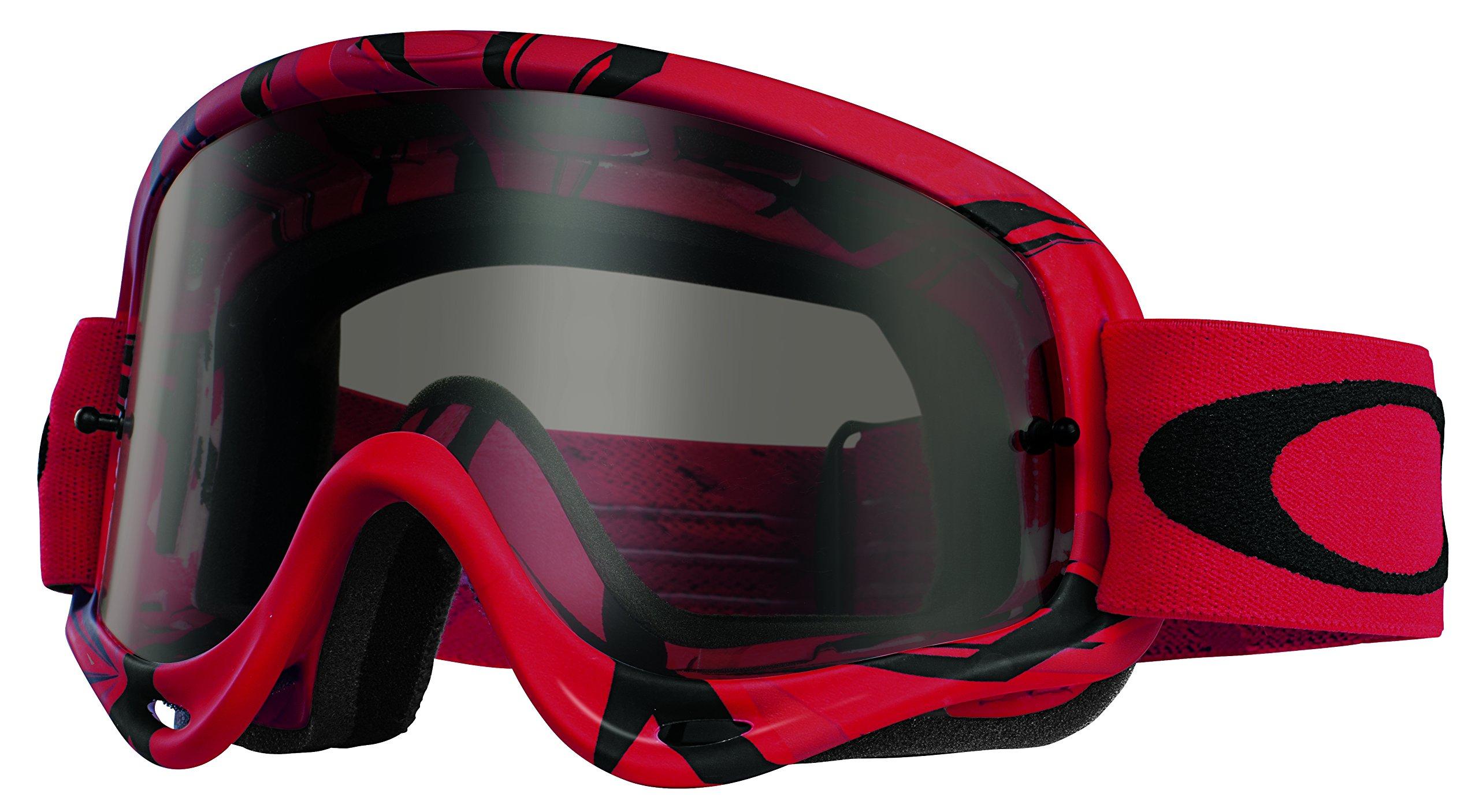 b7f5cceb85fc6 Get Quotations · Oakley O-Frame MX Intimidator Goggles (Red Black Frame Dark  Grey Lens