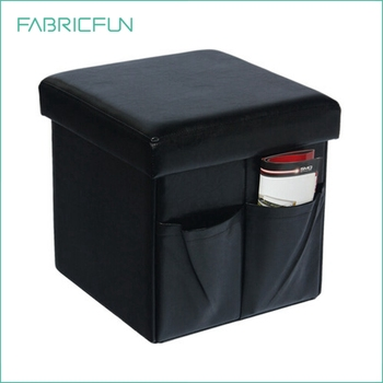 Pleasing Indoor Collapsible Square Faux Fur Storage Ottoman With Side Pouch For Extra Storage Buy Faux Fur Storage Ottoman Faux Leather Storage Bench Storage Creativecarmelina Interior Chair Design Creativecarmelinacom