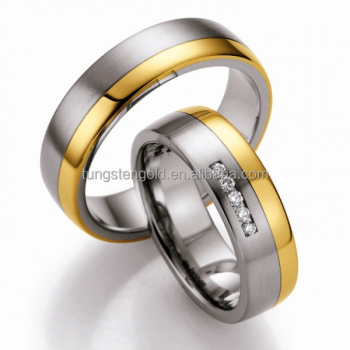 18k Gold Plated Couple Wedding Rings Newest Design Couple Rings