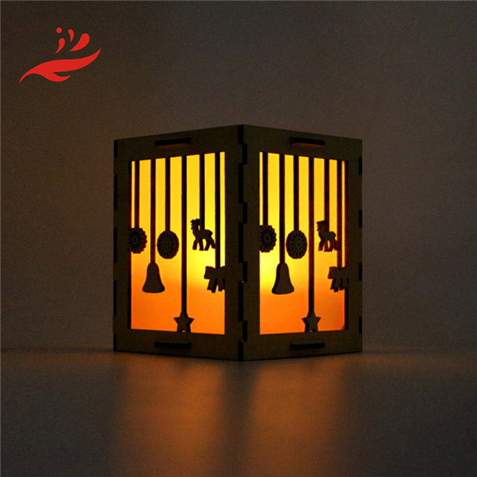 new style laser cut wood table lamp shade for home /bar decoration