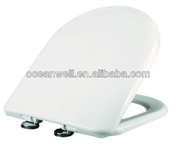 D Shape Toilet Seat Cover With Self Closing Stainless Steel Hinges For  Closet Toilet In