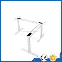 Contemporary free standing adjustable office working table desk