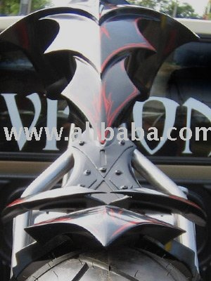 Warlock custom chopper motorcycle gas tank
