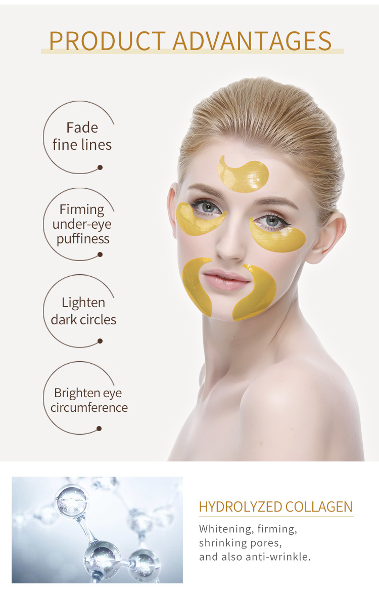 Private label oem collagen aquogel gel eye spot mask pack hydrogel eye patch for moisturizing nourishing