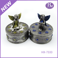 New Product HX-7333 Round Angel Picture Packing Boxes For Jewelry