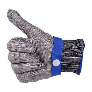 Protection level 5 Anti Cutting Resistant Mesh Stainless Steel Wire Armors safety Butcher House Garden Working Gloves