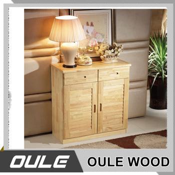 Living Room Eco Friendly Wooden Ventilation Door Shoe Cabinet