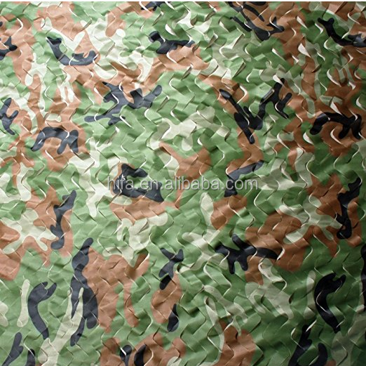 woodland camouflage net for hidden military activity